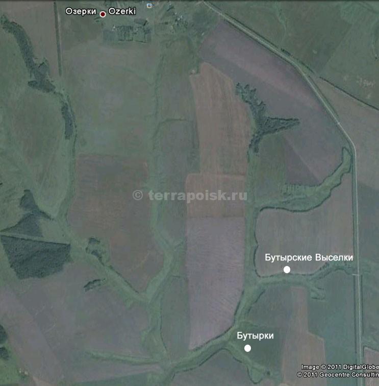 рис. 9 Окрестности Озерок